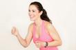 Sportliche Frau beim Training