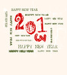 New year 2013 card, free copy space, grungy,vector