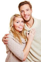 Portrait eines jungen attraktiven Paares
