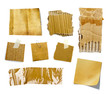 Petits morceaux de papier cartonné