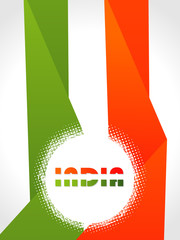 Creative Indian flag color background with wave for Republic Day