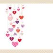 Hanging Hearts Love Letter Dots Border Retro