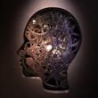 Gears inside a head
