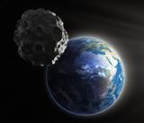 Fototapety Asteroid near Earth