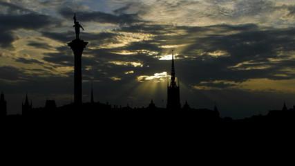 Sweden Stockholm sunset