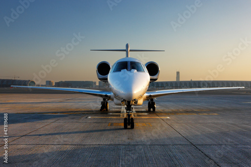 Fotobehang Midden Oosten A front on view of a private jet