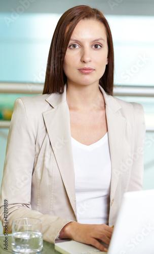 Serious secretary