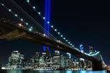Brooklyn Brigde and the Towers of Lights , New York City - 47821033