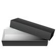Black blank Cardboard Package Box Opened