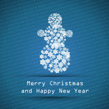 dark blue merry christmas typographic text poster