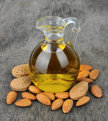 Almond oil with nuts