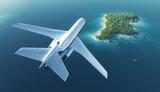 Fototapete Business - Insel - Flugzeug