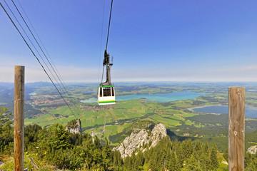 Seilbahn in den Alpen