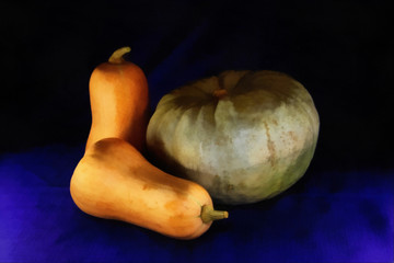 Semi Realistic Vegetable Painting