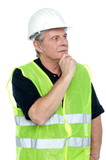 Shot of a thoughtful project engineer