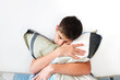 Depressed Teenager With Pillow