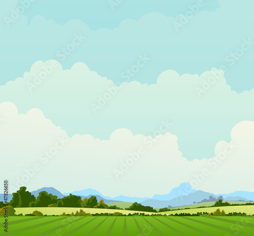 Country Landscape Background