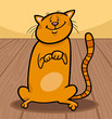 cute cat cartoon illustration