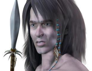 Junger Krieger mit Haarschmuck