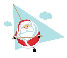 Extreme Santa hang gliding