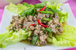 Cuisine Larb Moo Spicy Minced Pork Salad