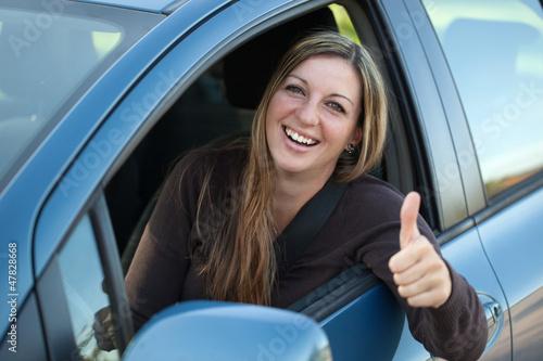 Erfolgreiche Autofahrerin