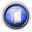 Glass exit door icon
