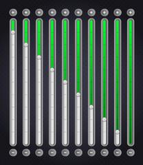 Green volume bar . Web Elements
