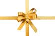 Schleife, gold, freigestellt, #12