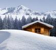 Fototapeten,lodge,berghütte,urlaub,winter