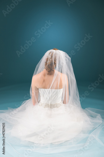 Praying bride