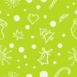 Cute seamless pattern with Christmas symbols