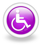 "Violet Icon ""Disability Access Symbol"""