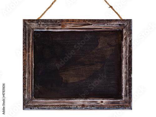 leere Kreidetafel, Rahmen