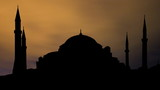 Turkey Hagia Sophia night clouds