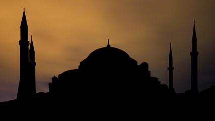 Turkey Hagia Sophia night clouds