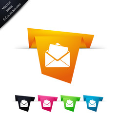 Symbole vectoriel papier origami E-mail / Message / Contact