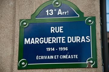 rue Marguerite Duras à Paris 13ièm