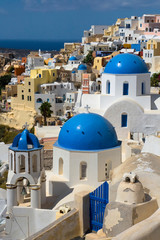 Churches and houses of Oia