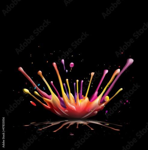 Fototapeten,explosion,berry,bunt,cmyk