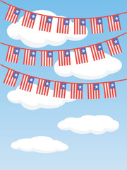 Patriotic bunting flags