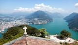 Luganersee, Blick vom San Salvatore nach Norden