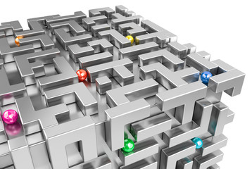 Concept - Moving in a 3d maze world