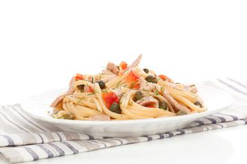 Delicious tuna pasta.