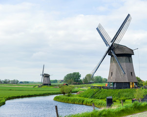 Dutch windmill. Netherlands