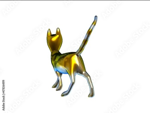 gatto in 3d animato
