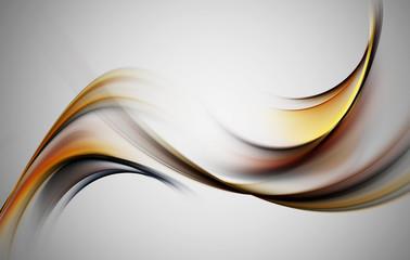 Abstract grunge orange fractal swirl