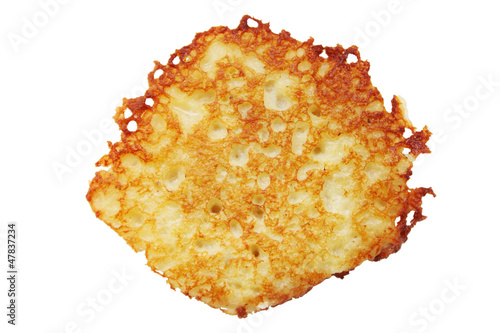 Potato pancake isolated