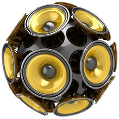 3D audio speakers sphere