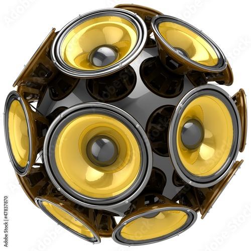 3D audio speakers sphere